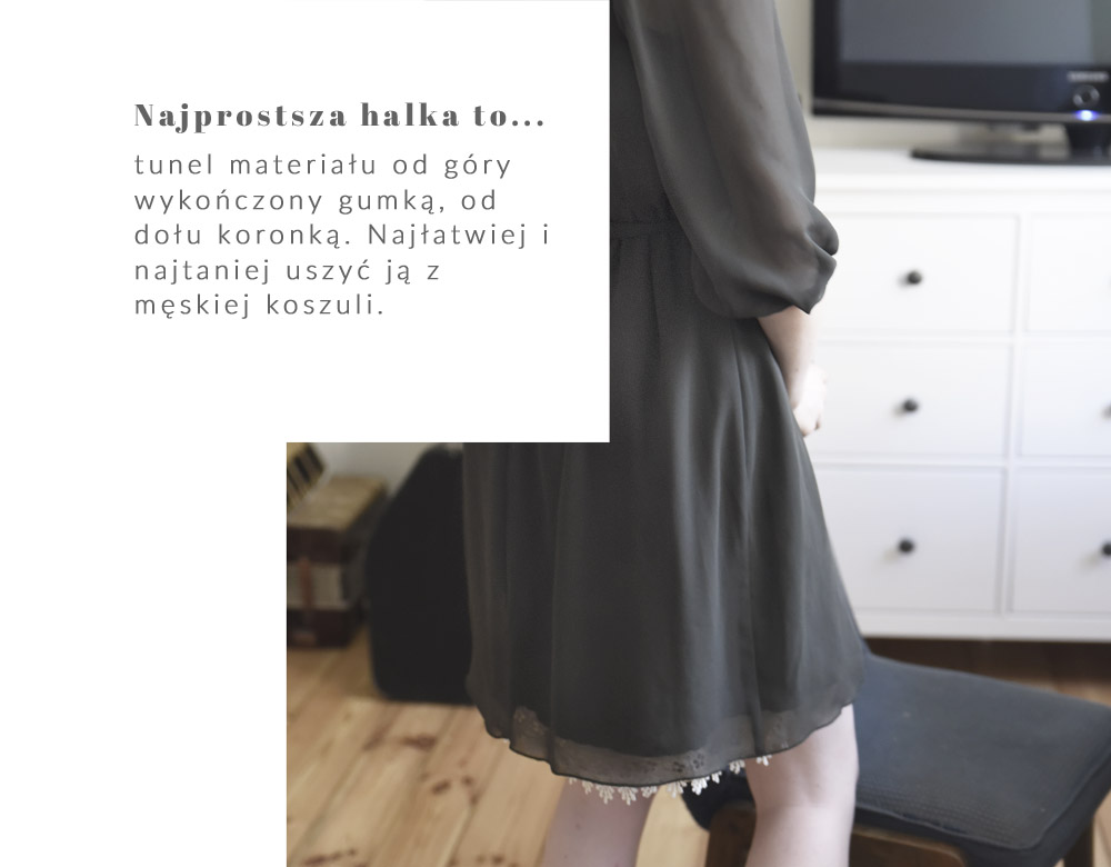 najprostsza halka to, jak uszyć halkę, z męskiej koszuli, jedwab, instrukcja, DIY
