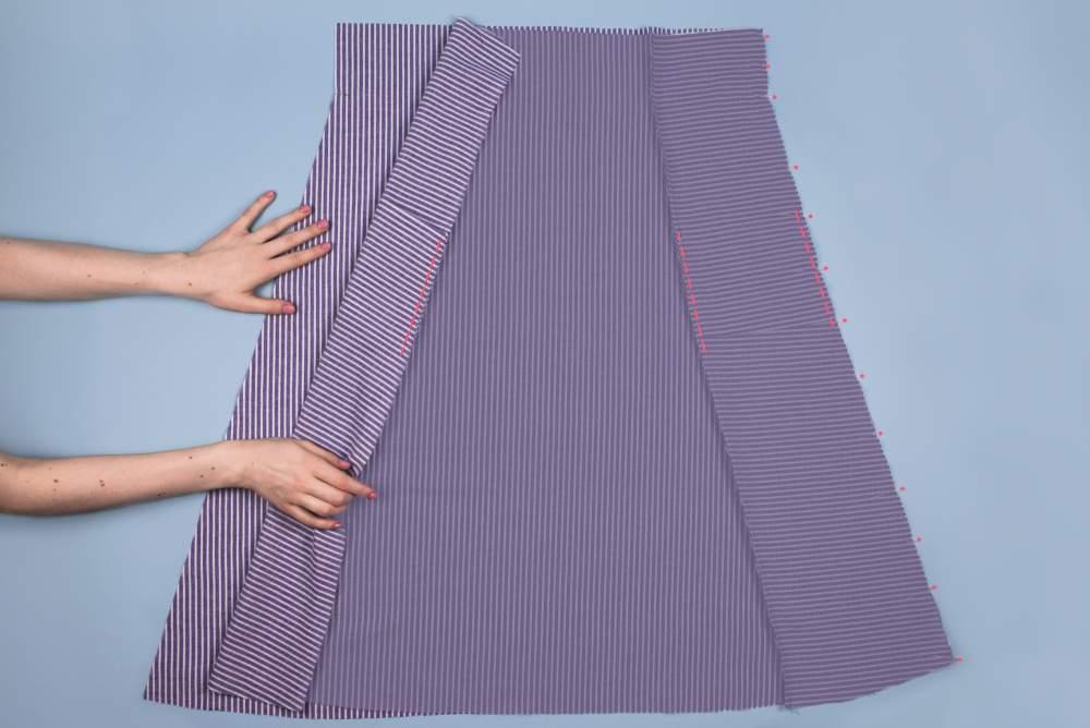 Jak uszyć spódnicę na gumce na przykładzie prostej