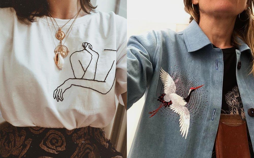 haftowane ubrania