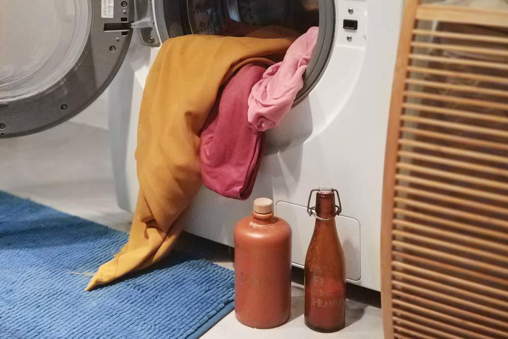 dekatyzacja - pranie tkanin w pralce