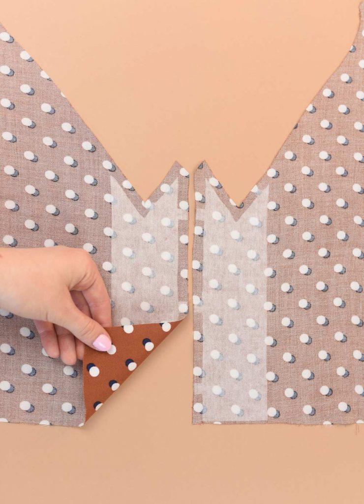 flizelina - zastosowanie w sukience swobodnej